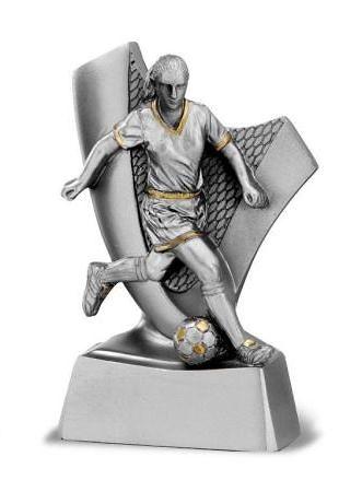 Trofeo en plata futbolista femenino
