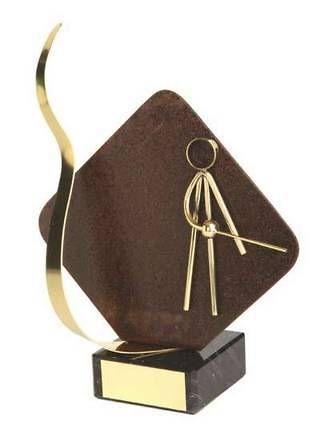Trofeo esgrima detalle rombo