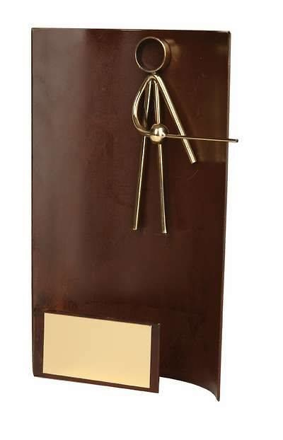 Trofeo esgrima rectangular