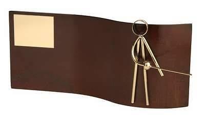 Trofeo esgrima rectangular ondulado sin peana
