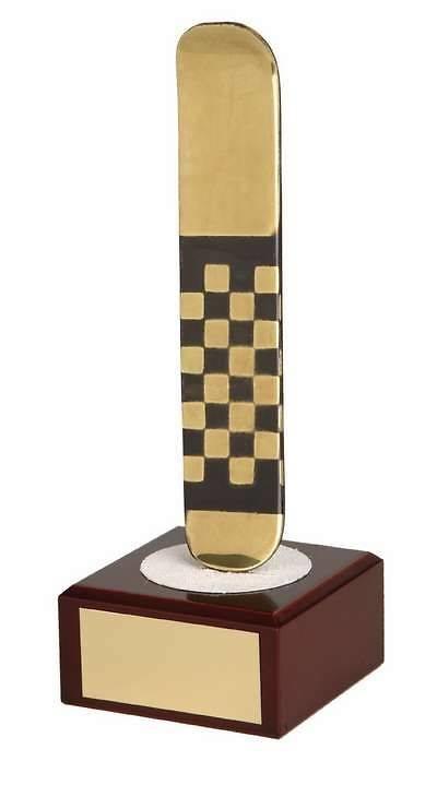 Trofeo esquí tabla dorada snowboard
