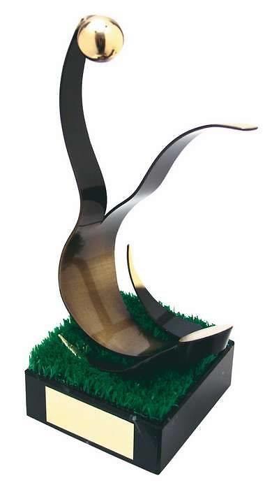 Trofeo fútbol abstracto