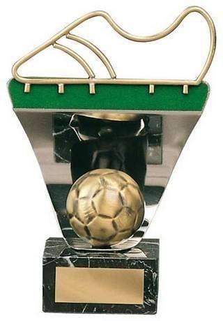 Trofeo fútbol bota y balón