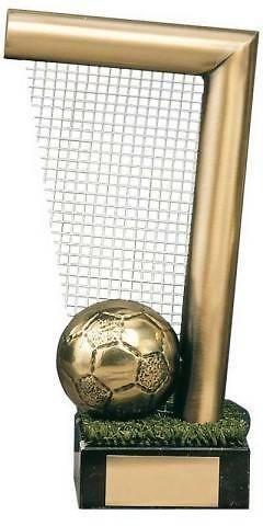 Trofeo fútbol portería y balón