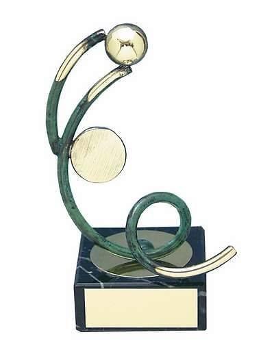 Trofeo fútbol portero artesanal