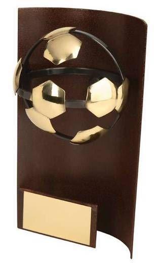 Trofeo fútbol rectangular