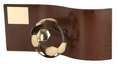 Trofeo fútbol rectangular ondulado