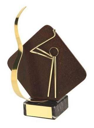Trofeo golf con detalle en rombo