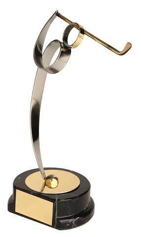 Trofeo golf golfista latón