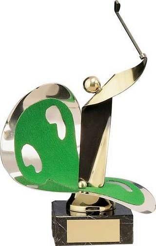 Trofeo golf latón golfista