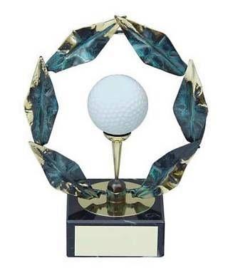 Trofeo golf pelota blanca