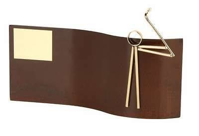 Trofeo golf rectangular ondulado