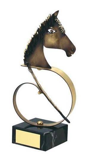 Trofeo hípica caballo a color