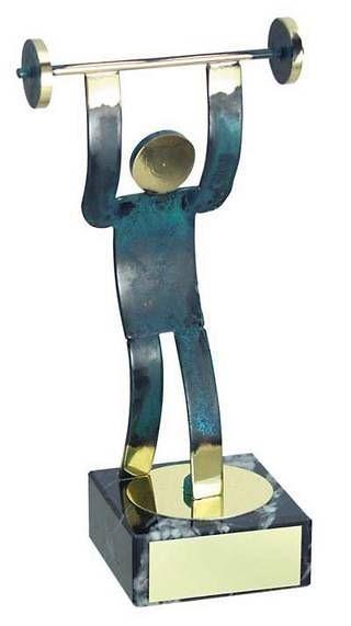 Trofeo halterofilia hecho a mano