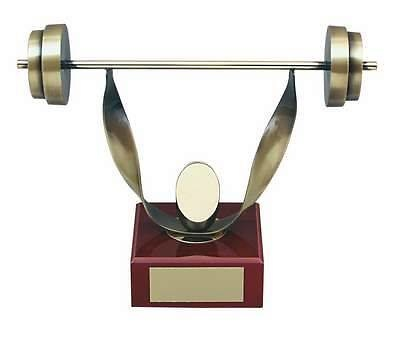 Trofeo halterofilia peana madera