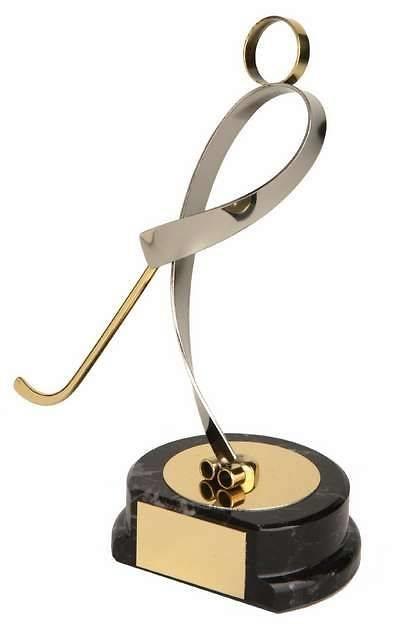Trofeo hockey patines dorado y plateado