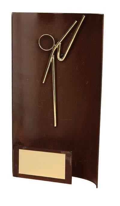 Trofeo karate rectangular