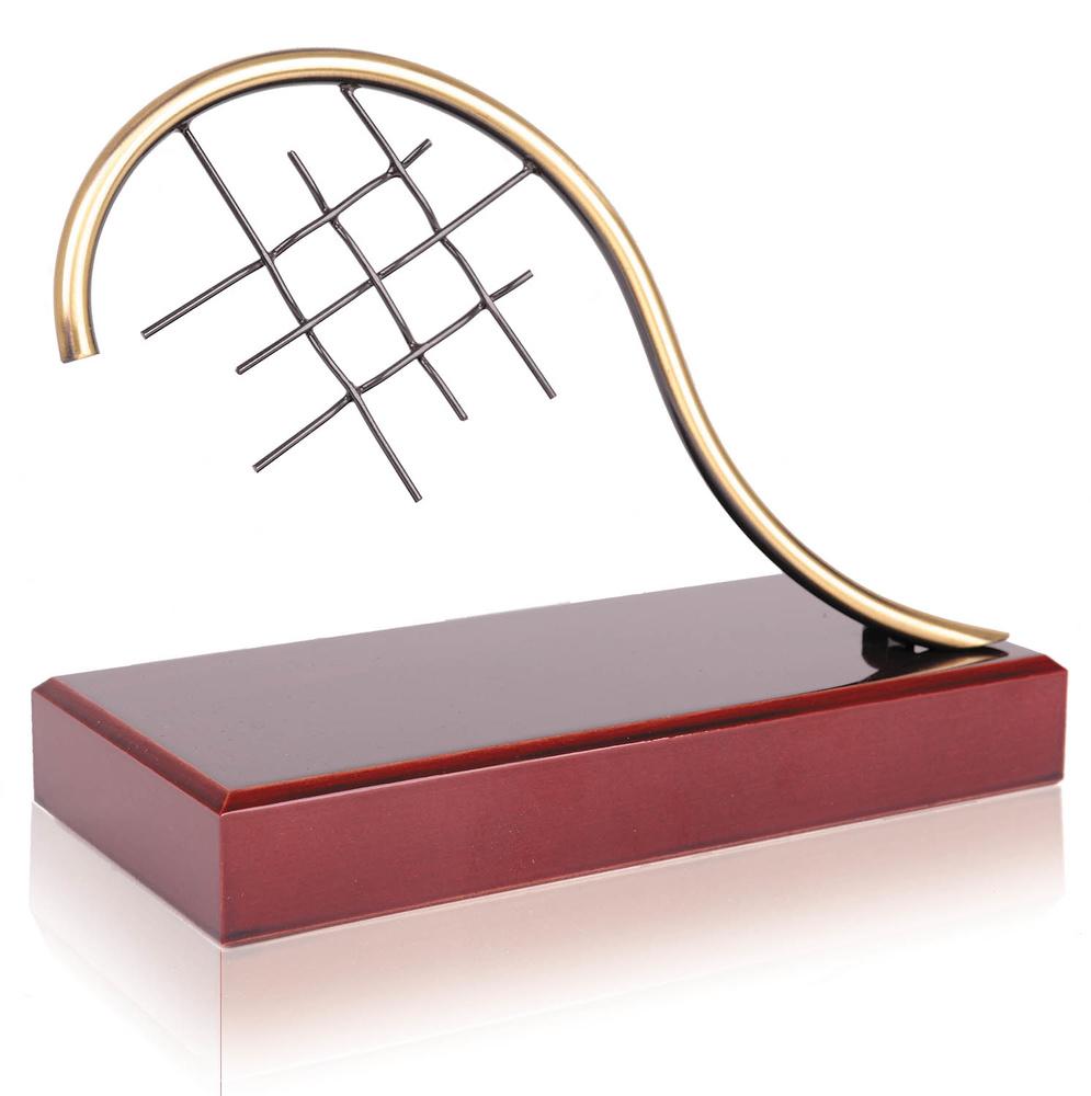 Trofeo latón de raqueta