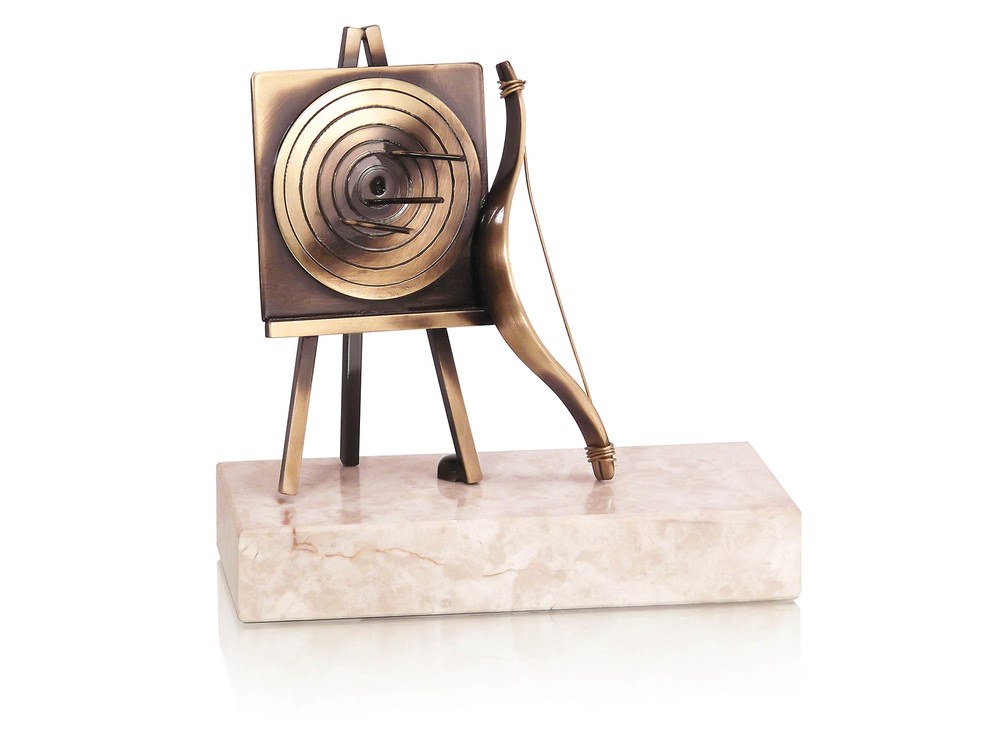 Trofeo latón de tiro al arco