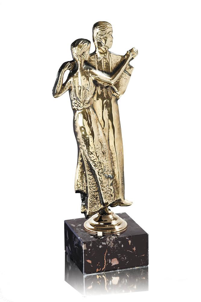 Trofeo latón dorado de baile