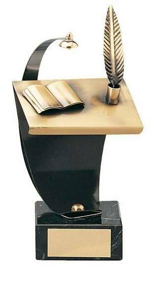 Trofeo literatura latón