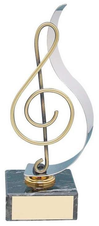 Trofeo música clave sol