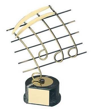 Trofeo música notas