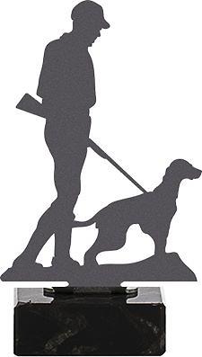 Trofeo metal caza con perro modelo vivendi