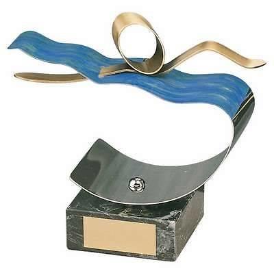 Trofeo natación nadador dorado