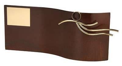 Trofeo natación rectangular ondulado