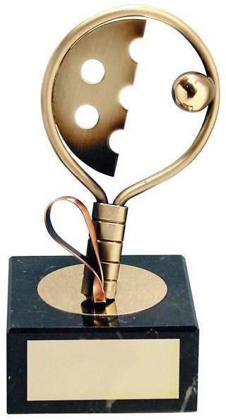 Trofeo padel dorada raqueta