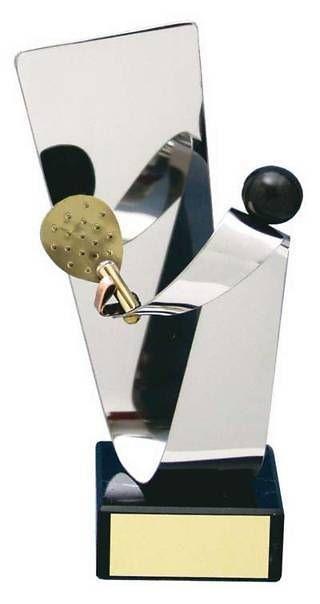 Trofeo padel latón plateado