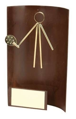 Trofeo padel rectangular