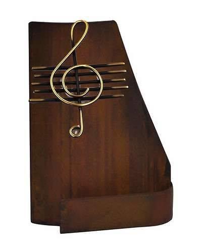 Trofeo Artesanal Laton Musica. Clave se sol y pentagrama, sin peana.