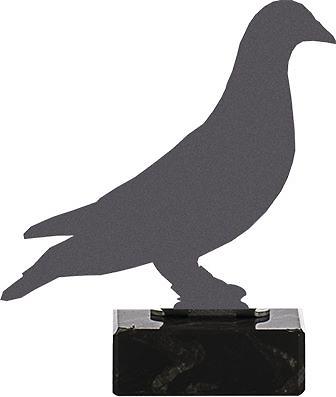 Trofeo para colombofilia realizado en metal modelo intas