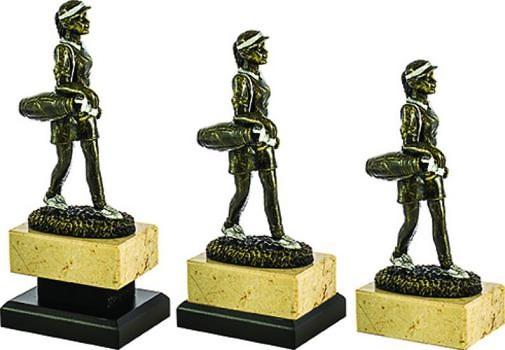 Trofeo para golf femenino en bronce