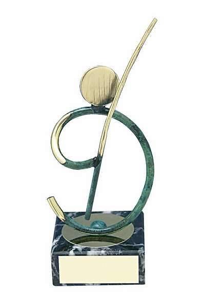 Trofeo pesca latón pescador