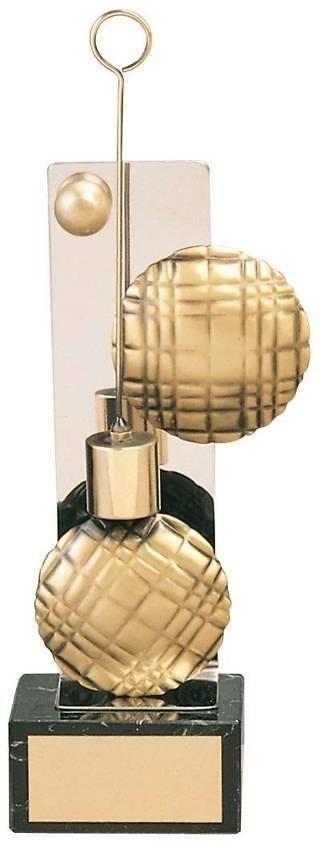 Trofeo petanca bolas y boliche dorados