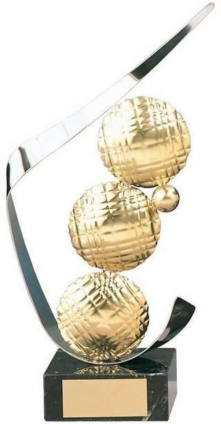 Trofeo petanca boliche y bolas
