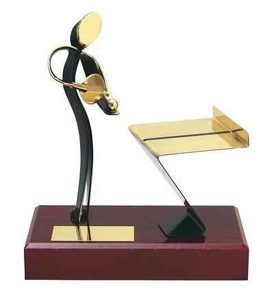 Trofeo ping pong peana madera