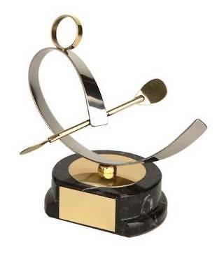Trofeo piragüismo dorado y plateado
