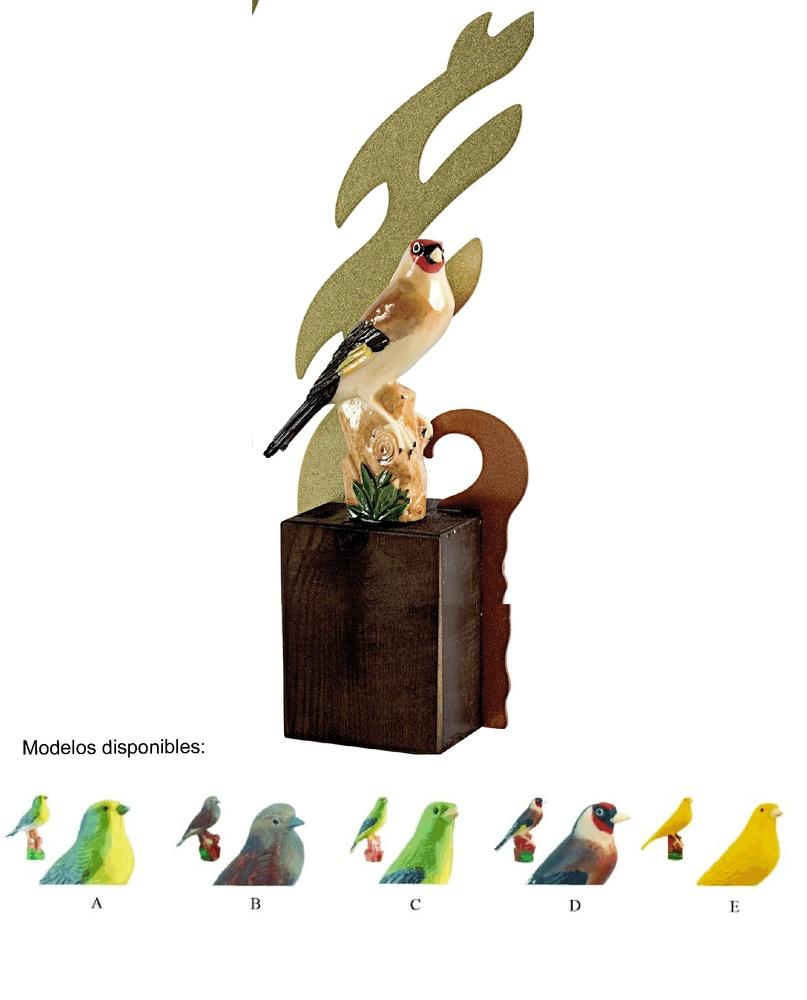 Trofeo realizado en resina de Canaricultura.