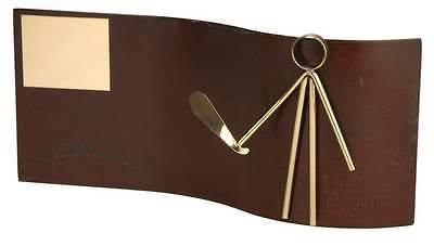 Trofeo rectangular de palas envejecido