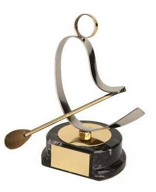 Trofeo remo piragüista dorado y plateado