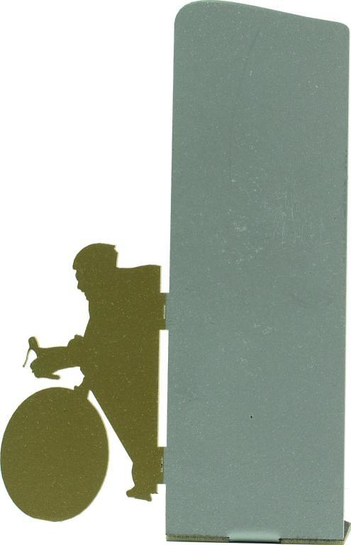 Trofeo silueta de metal de ciclismo