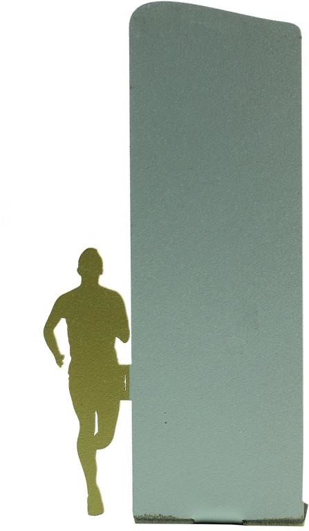 Trofeo silueta de metal para atletismo