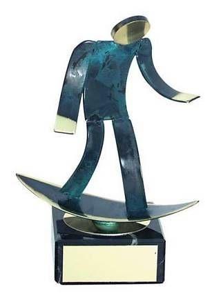 Trofeo surf latón