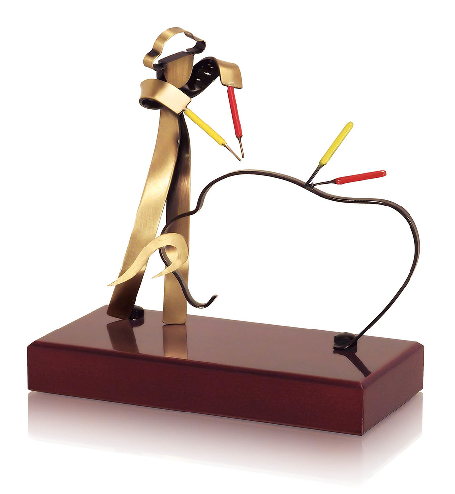 Trofeo taurino de laton