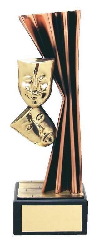 Trofeo teatro mascaras y telón