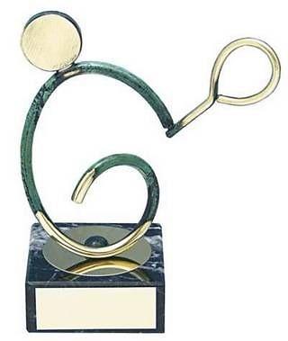 Trofeo tenis artesanal